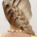 косички на средние волосы своими руками